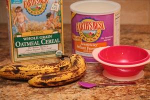 Organic cereal, banana, formula