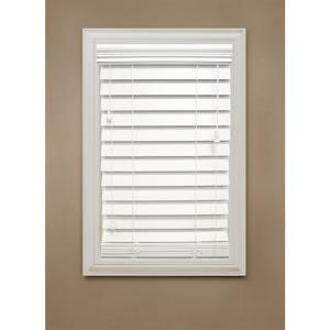 """2-1/2"""" Faux Wood Blinds from Home Depot"""
