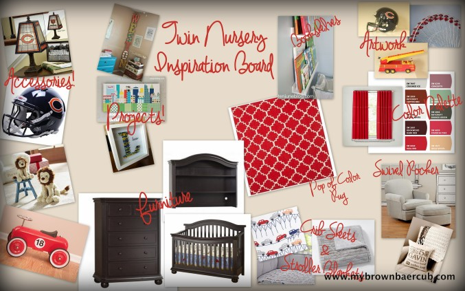 Twin Nursery Inspiration Board