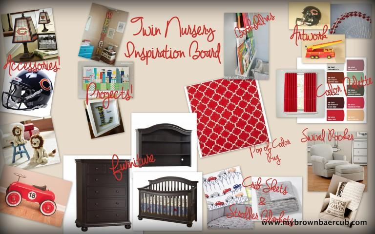 Twin Nursery Inspiration Board