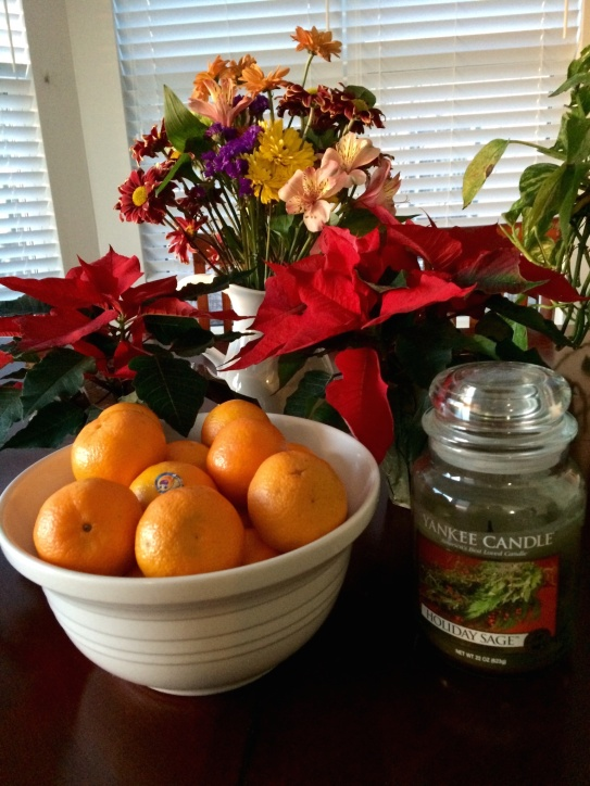 Clementines and Poinsettias for Matt's parents and my dad arriving tomorrow to stay with us until I am home. My life savor mom is planning to stay in the hospital with me while I recover.