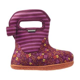 Classic Flower Stripes Baby Bogs Snow Boots